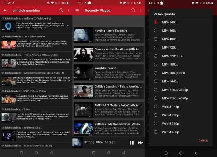 Beste Youtube Apps von Drittanbietern Mobile Firetube