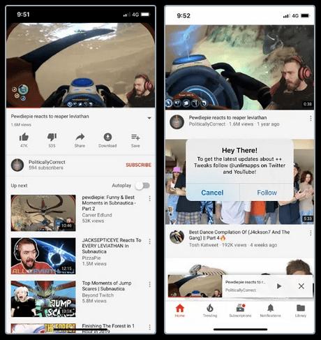 Beste Youtube Apps von Drittanbietern Mobile Youtube Plus Plus