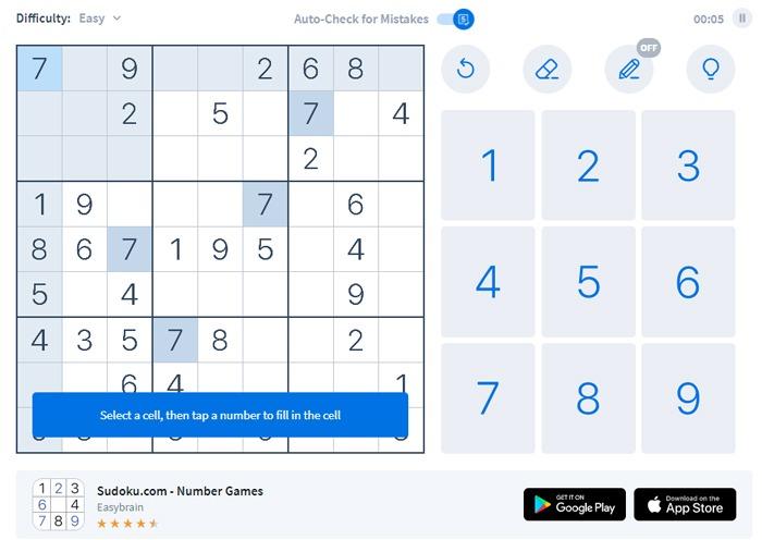 Kostenlose Memory-Spiele Erwachsene Senioren Sudoku