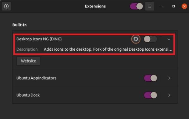 So verbergen Sie Desktop-Symbole auf Ubuntu 20.04-Erweiterungen