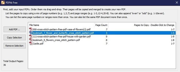 """Klicken Sie auf """"PDF hinzufügen"""", um die PDF-Dateien hinzuzufügen, die Sie zusammenführen möchten.  Dateien werden der Liste in der Reihenfolge hinzugefügt, in der Sie sie auswählen, aber Sie müssen sich jetzt nicht um die Reihenfolge kümmern."""