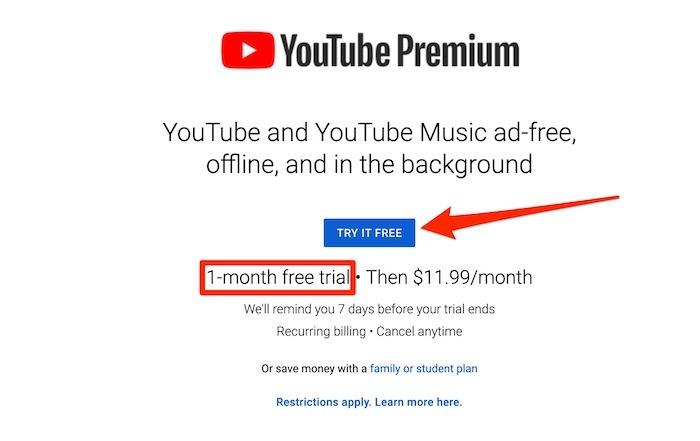 Youtube TV Premium Premium-Testversion