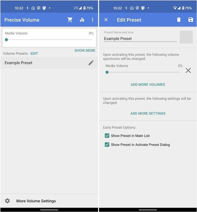 Android-Lautstärkeregelung Präzise Lautstärke