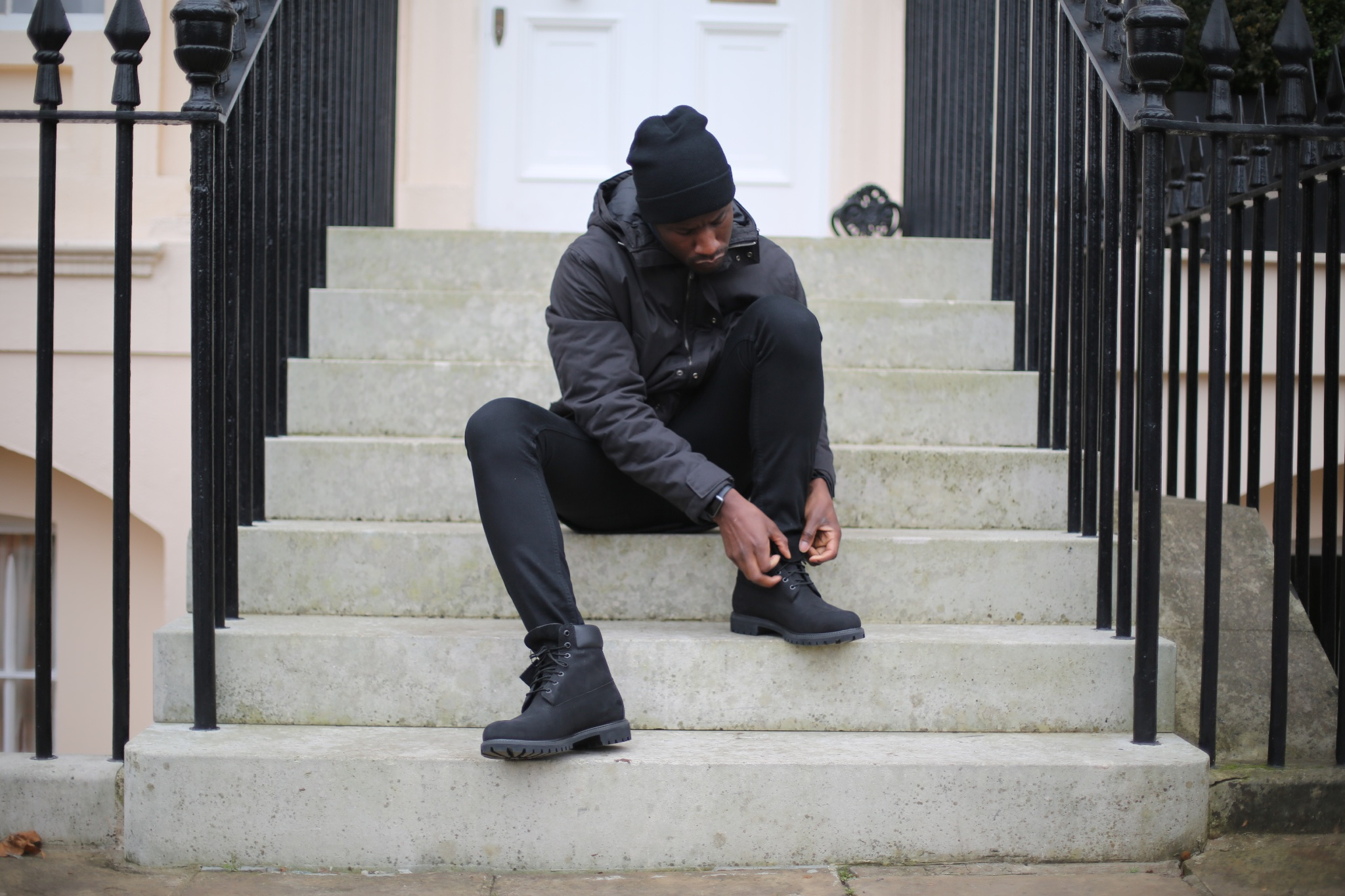 Image result for black man in timberland boots