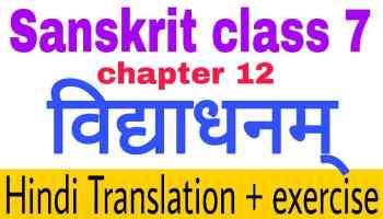 class 7 sanskrit chapter 8 त्रिवर्ण: ध्वज:
