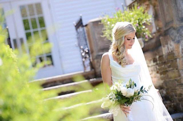 Bridal hair and makeup for Alison's Harding Allen Estate wedding
