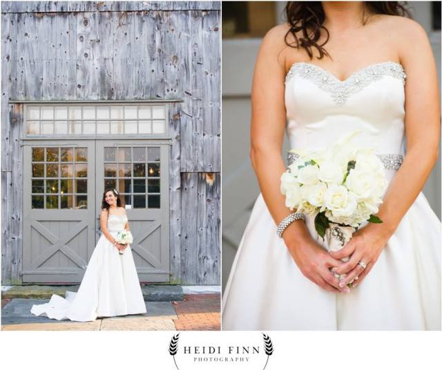 Bridal hair and makeup for Lisa's rustic barn wedding