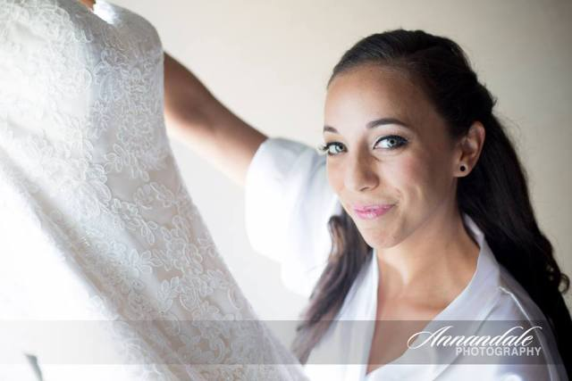 Bridal hair and makeup for Log Cabin wedding in Holyoke