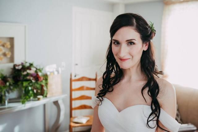 Fall wedding makeup for Katie's wedding at Harrington Farm