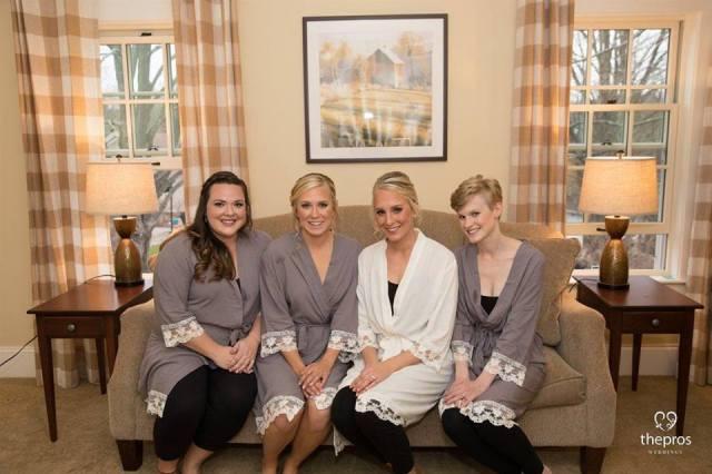 Christmas wedding hair & makeup for Dana's Publick House wedding