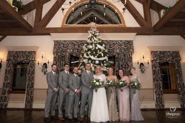 Christmas wedding hair & makeup for Dana's Publick House wedding