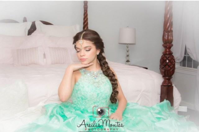 Quinceañera Hair and Makeup, Aladdin-themed