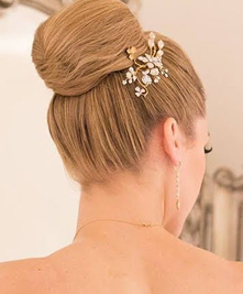 Classic Bun Bridal Hair Design Updo by Christy & Co.