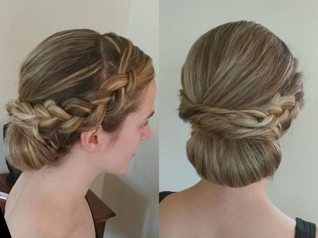 Bridal hair design by Andreina