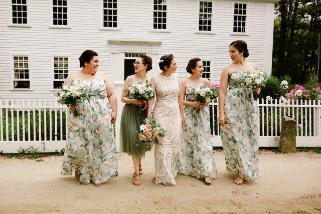 Historic-inspired bridal hair and makeup for Lauren's wedding at Old Sturbridge Village in Sturbridge, MA.