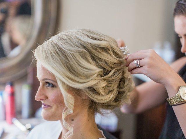Timeless bridal beauty hair and makeup for Sandra's wedding at Harrington Farm in Princeton, MA