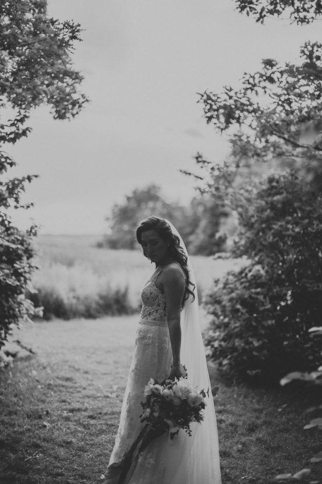 Dreamy hair and makeup for Laura's wedding at Tower Hill Botanic Garden in Boylston, MA