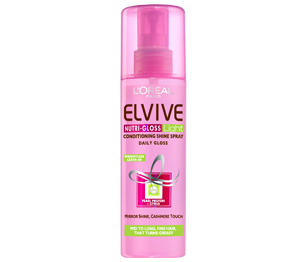 elseve nutri gloss light conditioning shine spray review makeup4all