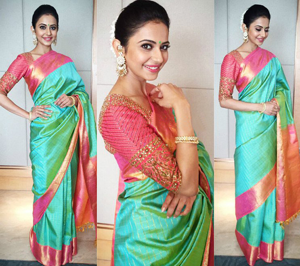 different types of blouse designs with kanjeevaram sarees
