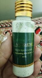 Vana Vidhi Green Tea Scrub in Reverie Feel Box
