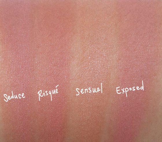 tarte naughty nude blush swatches