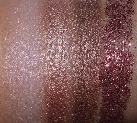 mac nutcracker sweet bronze pigments and glitter