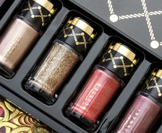 mac nutcracker sweet gold pigments and glitter