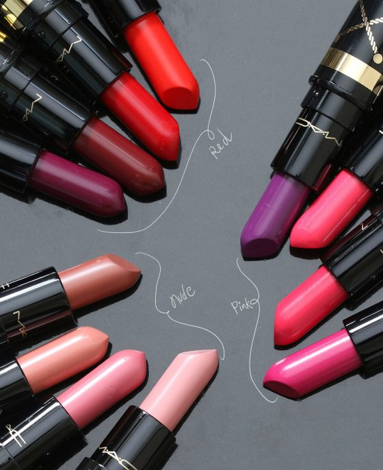 mac nutcracker sweet lipstick sets nude red pink
