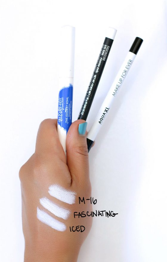 white eyeliner swatches