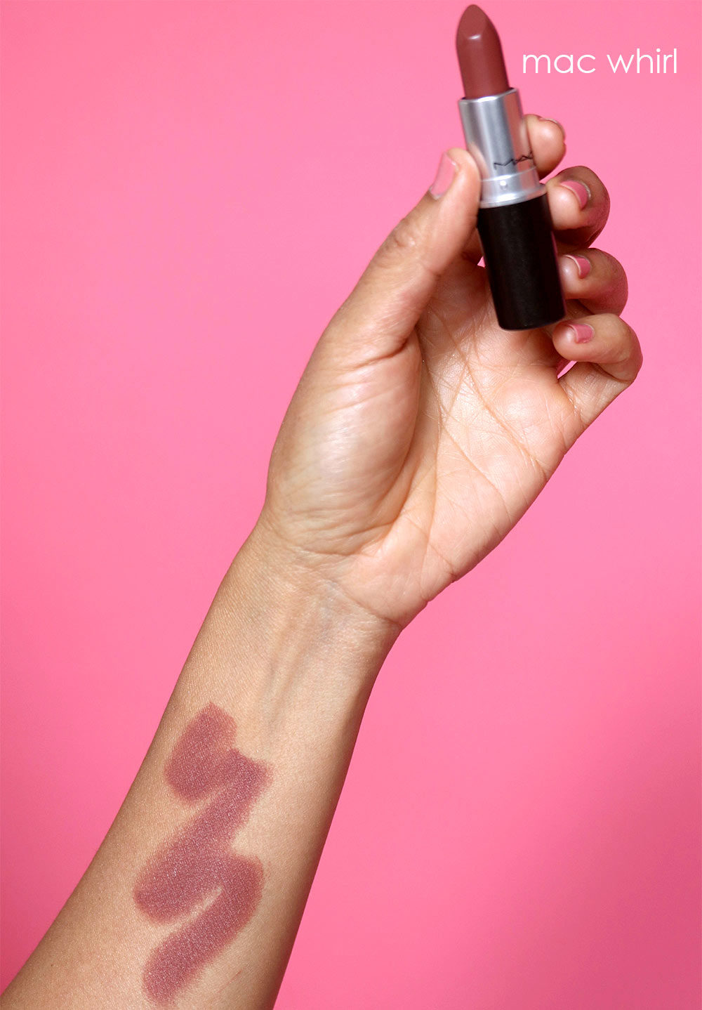 mac whirl lipstick swatch