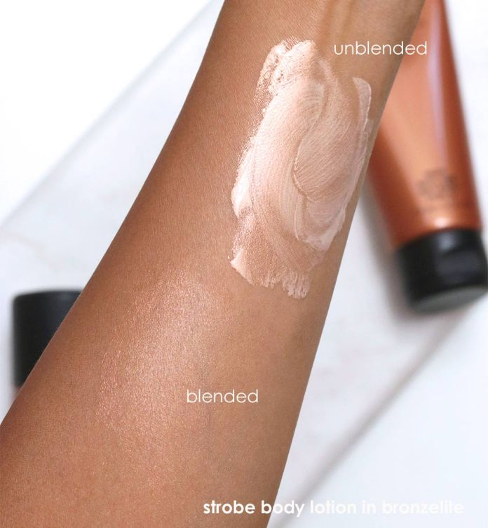 mac bronzer collection swatches strobe body lotion