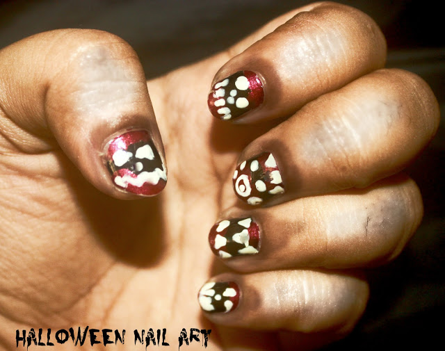 Halloween Nail Art: Bloody Fangs