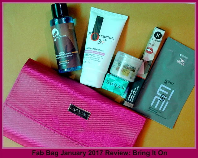 Fab Bag January 2017 Review: Bring It On