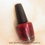 OPI Nail Lacquer, I Am Not Really A Waitress – NOTD and Review