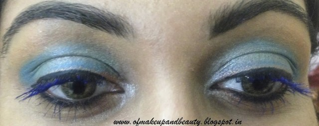 Aqua Blue Eye Make Up - EOTD Make up and beauty Forever