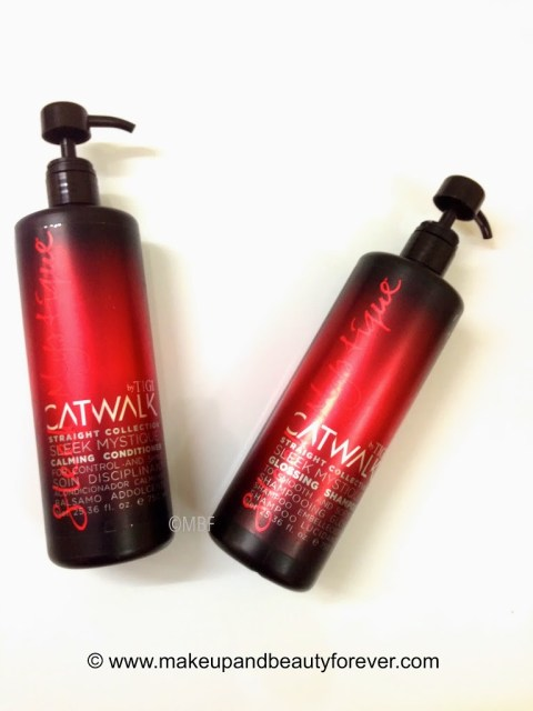 TIGI Catwalk Sleek Mystique Glossing Shampoo and Tigi Catwalk Sleek Mystique Calming Conditioner MBF