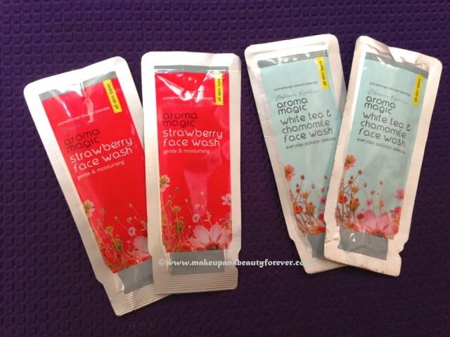 Aroma Magic Strawberry Face Wash and White tea and Chamomile Face Wash