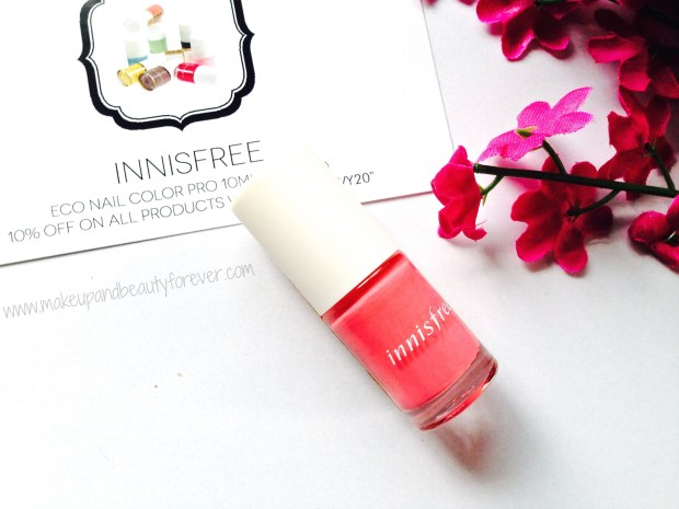 My Envy Box June 2014 innisfree nail