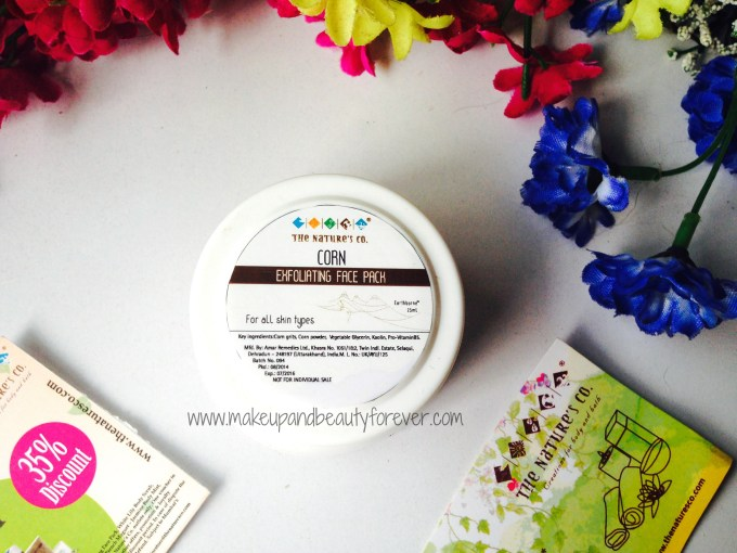 The Nature's Co Corn Exfoliating Face Pack