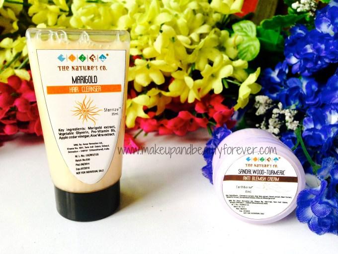 The Nature's Co Marigold Hair Cleanser Sandalwood Turmeric Anti Blemish Cream