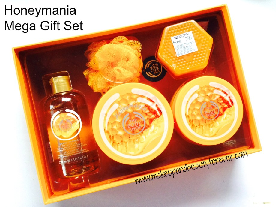 The body shop honeymania products