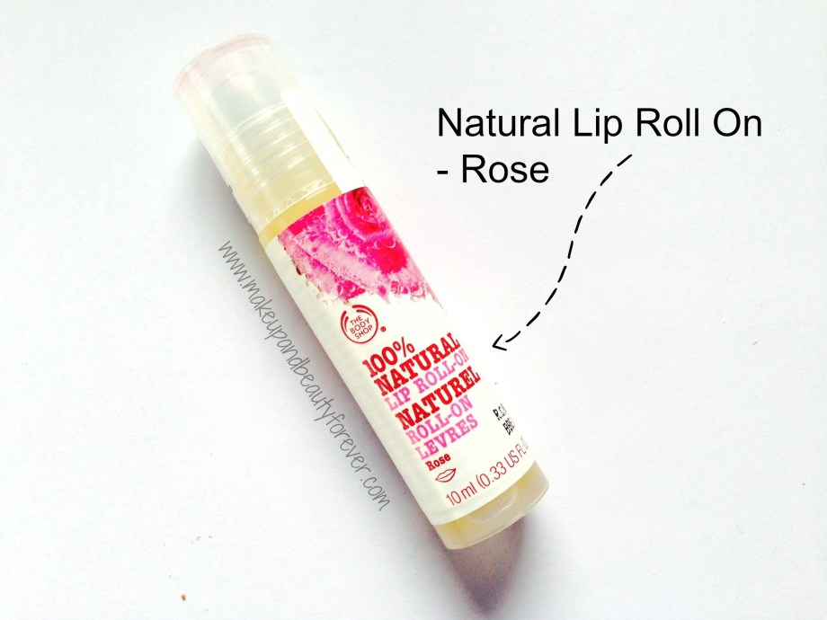 The body shop natural lip roll on rose