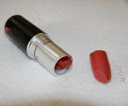 how to fix a broken lipstick