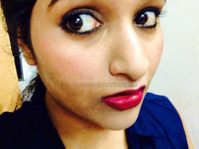 Colorbar Velvet Matte Lipstick – Passion Shade No. 5 Review, Swatch
