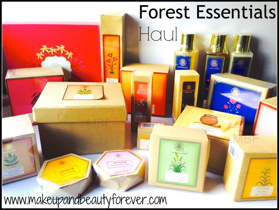 Forest Essentials Haul by Astha MBF best Forest essentials products