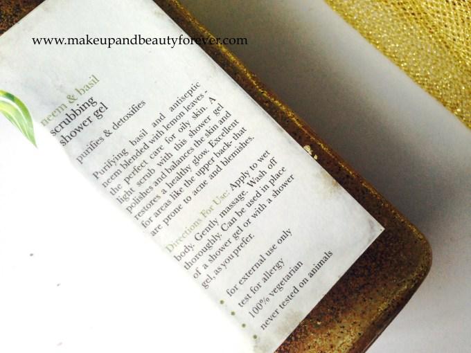 Iraya Purifying Neem and Basil Scrubbing Shower Gel Review