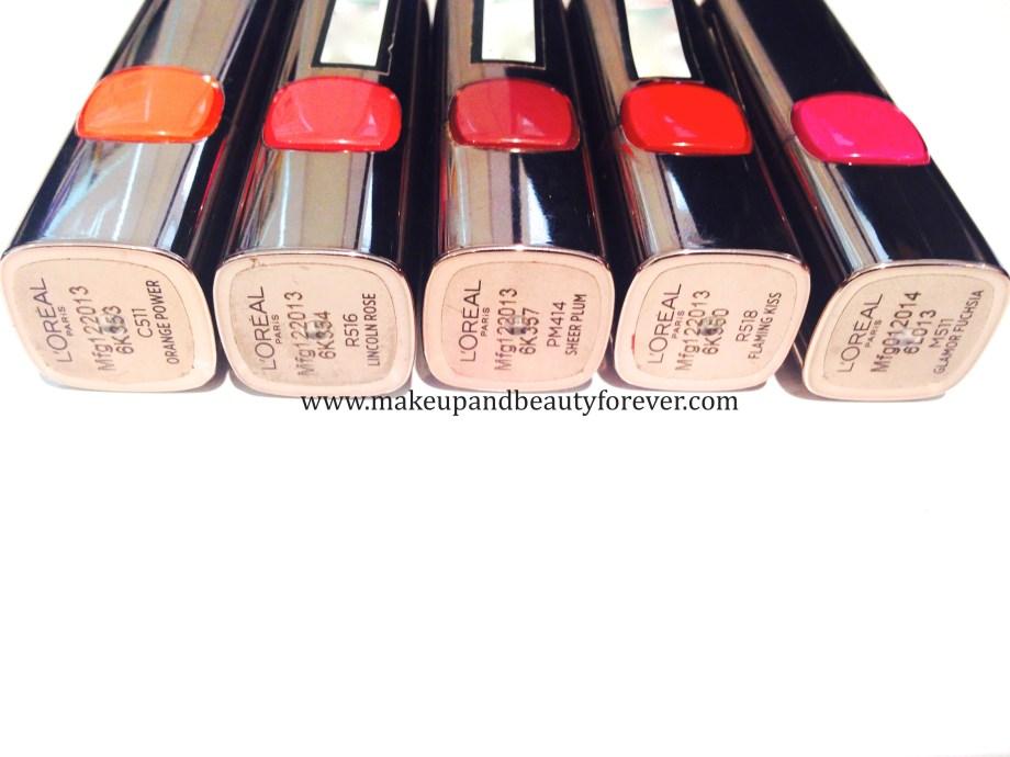 LOreal Paris Color Riche Moist Matte Lipstick Orange Power C511 LOreal Paris Color Riche Moist Matte Lipstick Lincoln Rose R516 LOreal Paris Color Riche Moist Matte Lipstick Sheer Plum PM414