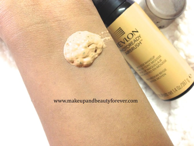 Revlon Photoready Airbrush Mousse Makeup Foundation Review Swatches
