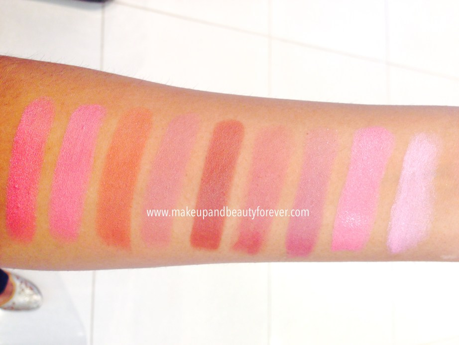 All Lakme 9 to 5 Matte Lipstick Lip Color Review, Shades, Swatches, Price and Details