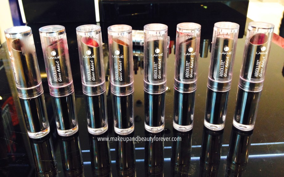 All Lakme Absolute Gloss Addict Lip Color Lipsticks Review ...